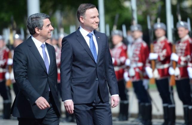 Andrzej Duda (right) and Bulgarian President Rosen Plevneliev (left). Photo: PAP/Jacek Turczyk