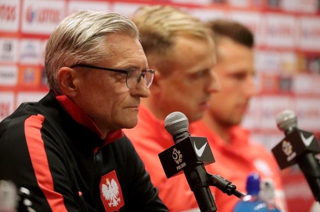 Poland coach Adam Nawałka during a press conference in Warsaw on Sunday. Photo: PAP/Bartłomiej Zborowski