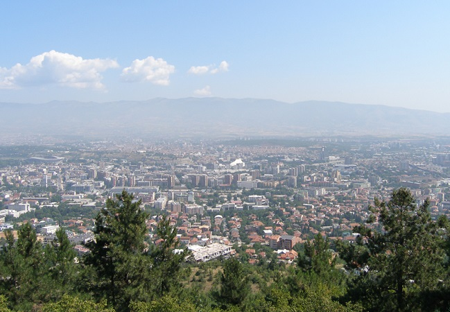 View of Skopje from Vodno, southwest of the Macedonian capital. Photo: Jasne/Wikimedia Commons (CC BY-SA 3.0)