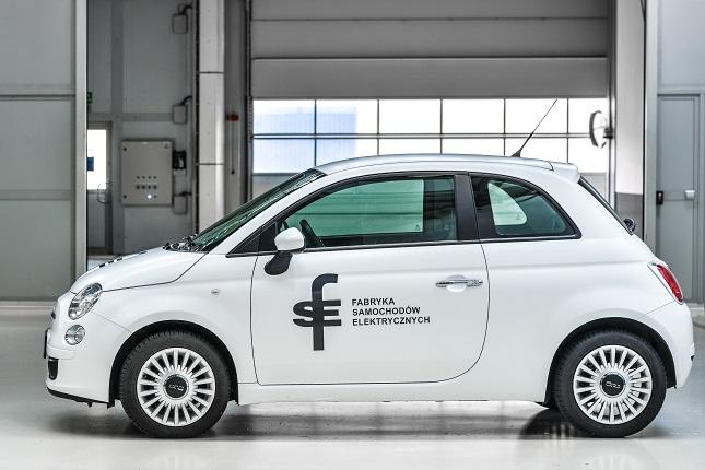 Als Basis für das E-Auto dient die Karosserie von Fiat 500.