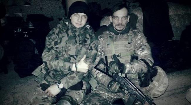 С украинским добровольцем, с. Пески