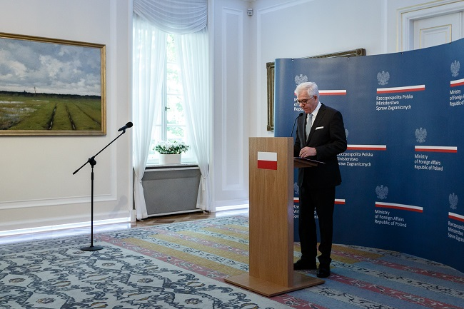 Polish Foreign Minister Jacek Czaputowicz. Photo: SEBASTIAN INDRA/MSZ
