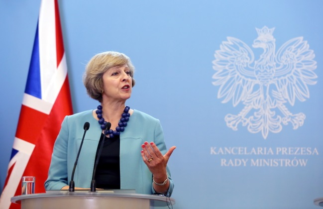 British PM Theresa May. Photo: PAP/Tomasz Gzell