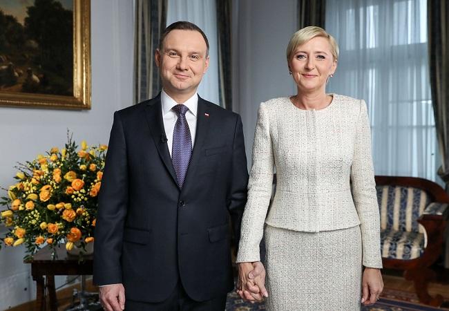 President Andrzej Duda and his wife Agata Kornhauser-Duda. Photo: prezydent.pl/Grzegorz Jakubowski.