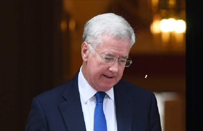British Defence Secretary Michael Fallon. Photo: EPA/ANDY RAIN