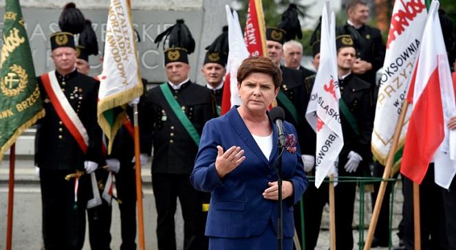 Беата Шидло на торжественной церемонии, приуроченной 36-й годовщине Ястшембского соглашения.