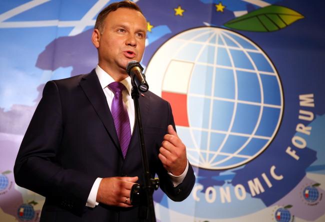 Polish President Andrzej Duda. Photo: PAP/Grzegorz Momot.