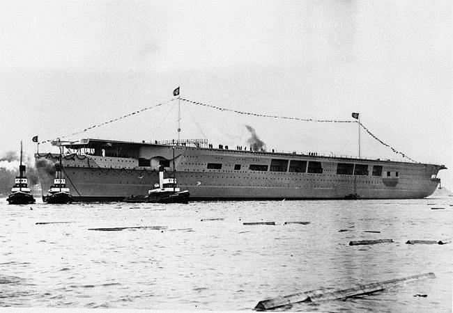 Авіяносец Graf Zeppelin, сьнежань 1938 году