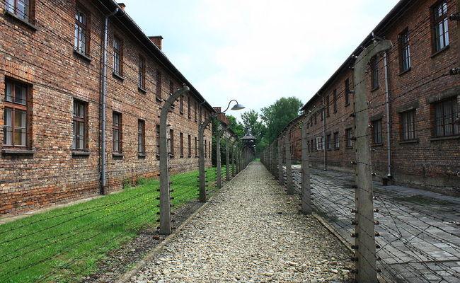 Baracken im deutschen KZ-Auschwitz