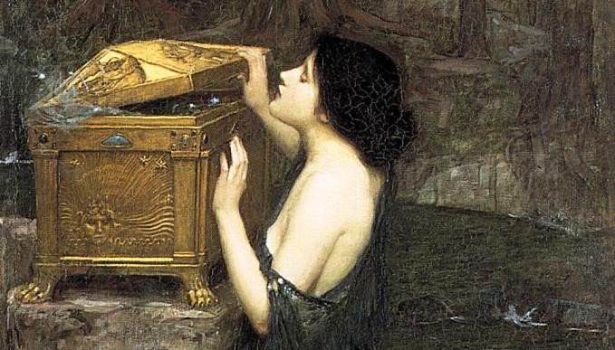 Джон Вільям Вотергаус, «Пандора» (фрагмент)
