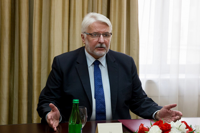Polish Foreign Minister Witold Waszczykowski. Photo: Flickr.com/Michał Jasiulewicz/MSZ.