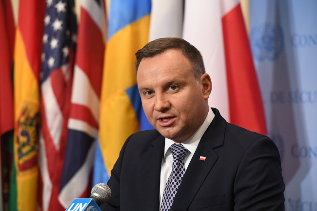 Andrzej Duda. Photo: PAP/Radek Pietruszka
