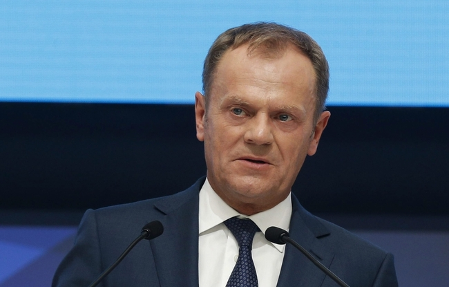 The President of the European Council, Donald Tusk, delivers his speech during the second day of the European People's Party (EPP) Congress in Madrid, Spain, 22 October 2015. Photo:  EPA/J.J. GUILLEN