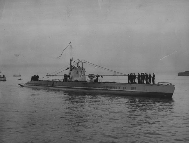 Падводная лодка «Вільк» зь сяброўскім візытам у Даніі, Капэнгаген, жнівень 1934 году