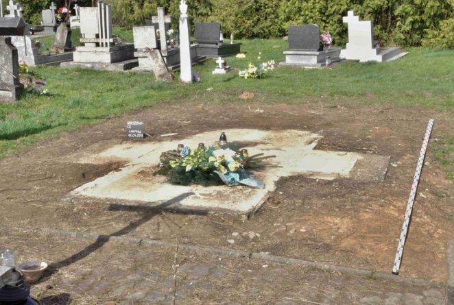 Місце, де стояв пам'ятник УПА на комунальному цвинтарі у Грушовичах на Підкарпатті
