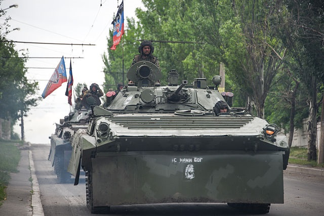 Armoured vehicles near Donetsk. Photo: Wikimedia Commons