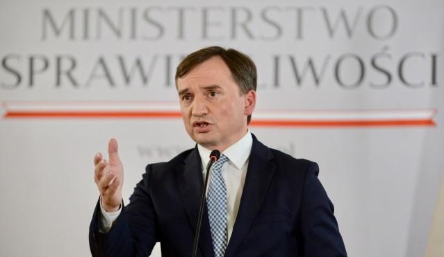 Министр юстиции, генеральный прокурор Збигнев Зебро во время пресс-конференции