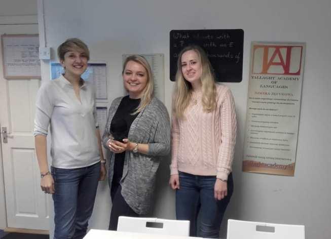 Ewa Mochoń z Katarzyną Zakopiec i Małgorzatą Robert założycielkami Tallaght Academy of Languages w Dublinie