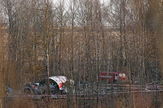 Обломки самолета Ту-154М, разбившегося 10 апреля 2010 года под Смоленском