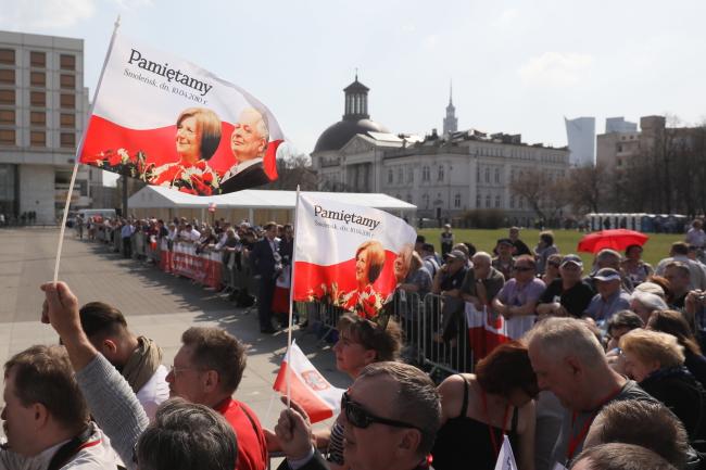Памятные мероприятия в Варшаве 10 апреля 2018 г., в 8-ю годовщину Смоленской катастрофы.