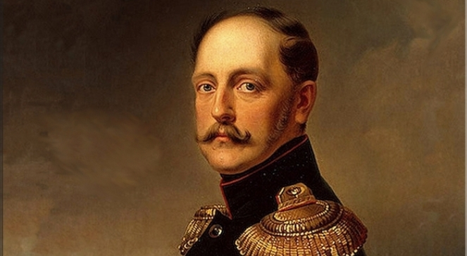 Франц Крюгер Портрет императора Николая I. 1852. Фрагмент