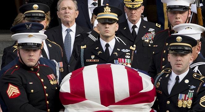 Похороны Джорджа Буша-старшего.