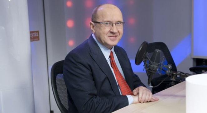 Професор Генрик Скаржинський у студії Першої програми Польського Радіо