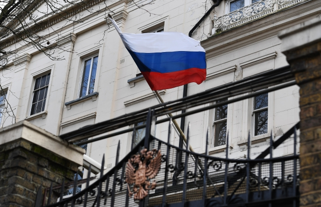 The Russian Consulate in London, Britain, 14 March 2018