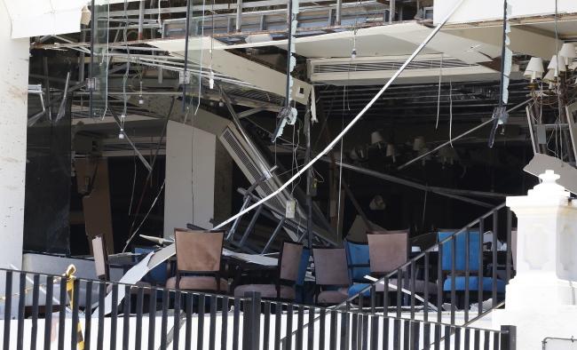 Отель Kingsbury в Коломбо после взрыва