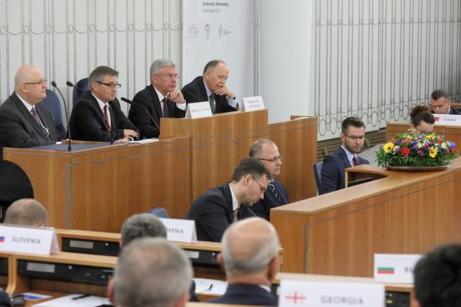 Встреча глав парламентов стран Центральной и Восточной Европы в Варшаве.