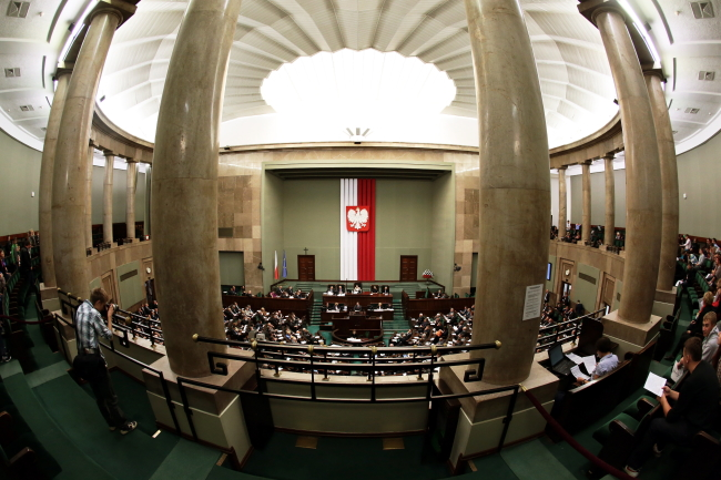The Sejm lower parliamentary house. Photo: PAP/Tomasz Gzell