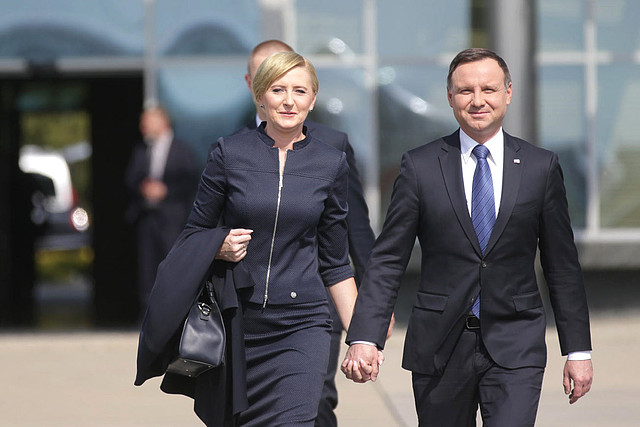 First Lady Agata Kornhauser-Duda and Polish President Andrzej Duda. Photo: prezydent.pl/Presidential Chancellery