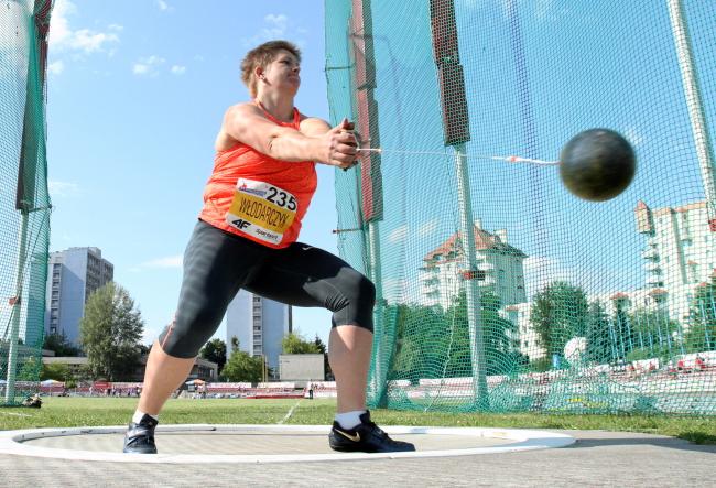 Anita Włodarczyk competes on Tuesday in the Polish Championships, Kraków. Photo: PAP/Stanisław Rozpędzik