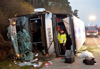 11 Poles injured in coach crash near Berlin
