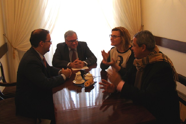 From left: Juan Cardona, director general for national and international promotion of Mexico's Special Economic Zones; Stefan Bekir Assanowicz, chairman of the Poland-Latin America Business Council; Radio Poland reporter Danuta Isler; and Mexico's Ambassador to Poland, Alejandro Negrin. Photo: Magdalena Jurewicz, Mexican embassy