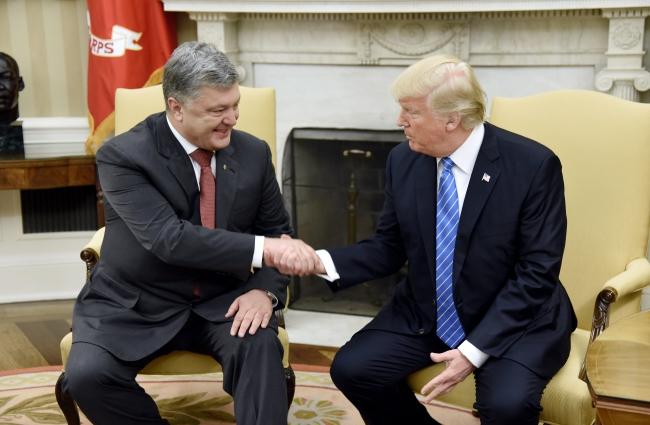 Петро Порошенко і Дональд Трамп під час зустрічі у Білому домі. Вашингтон, 20 червня 2017
