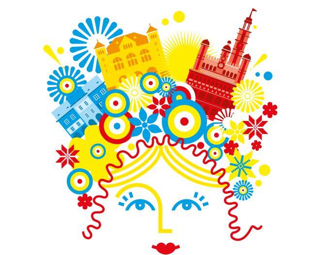 """Фрагмент плаката XII фестиваля """"Украинская весна в Познани""""."""