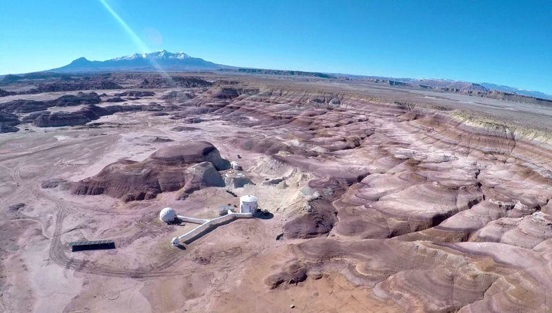 The Mars Desert Research Station. Photo: mdrs.marssociety.org.