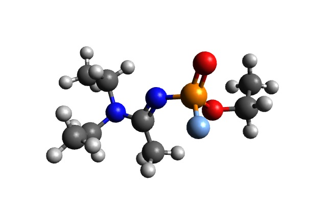A 3D structure of A-234 Novichok. Photo: ChiralJon/Wikimedia Commons (CC BY 4.0)