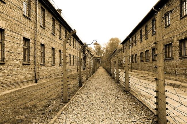 Das ehemalige deutsche KZ in Auschwitz.