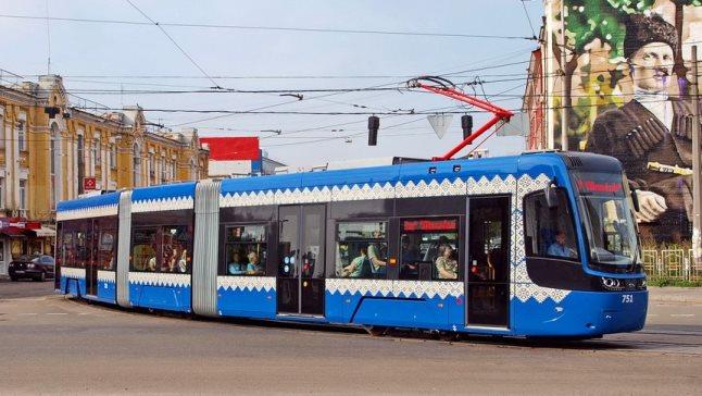 PESA tram in Kiev.