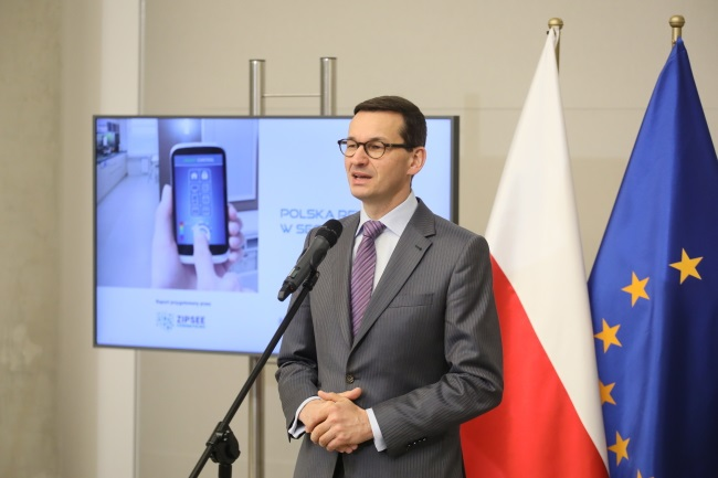 "Deputy PM and Development and Finance Minister Mateusz Morawiecki, the main architect of the Polish government's ""constitution for business."" Photo: PAP/Paweł Supernak"