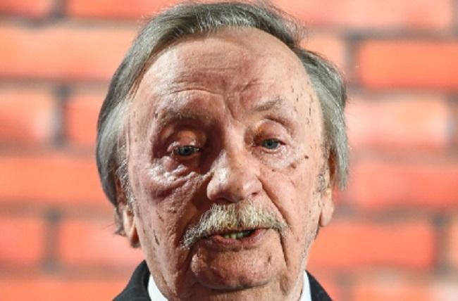 Wojciech Pokora pictured while celebrating his 80th birthday in Warsaw in September 2014. Photo: PAP/Stach Leszczyński