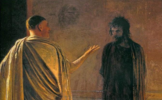 Микола Ґе, «Що є істина? Христос і Пілат» (фрагмент)