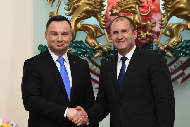 Andrzej Duda meets Rumen Radev in Sofia. Photo: PAP/Radek Pietruszka