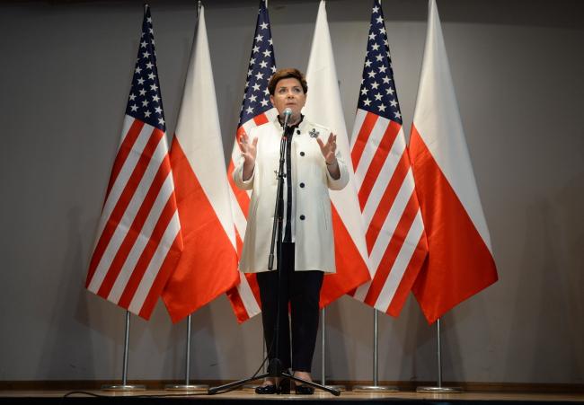 Prime Minister Beata Szydło speaking to Polish Americans in Doylestown, Pennsylvania. Photo: PAP/Jacek Turczyk