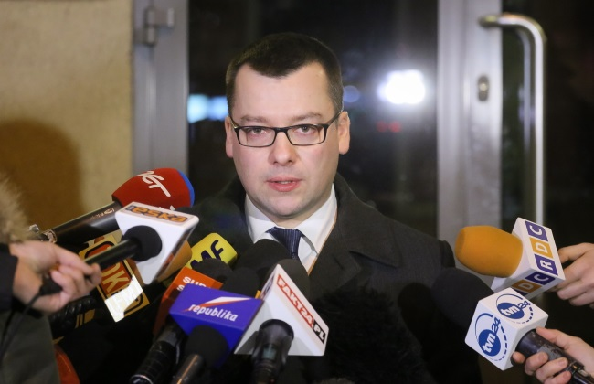 Przemysław Nowak, a spokesman for the Prosecutor's Office in Warsaw. Photo: PAP/Paweł Supernak