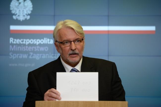 Polish FM Witold Waszczykowski. Photo: PAP/Jacek Turczyk