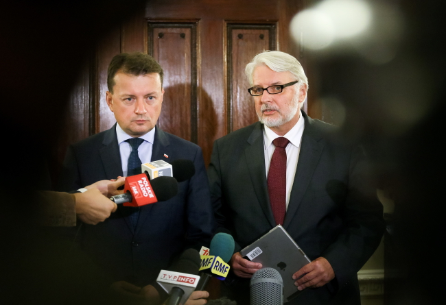 Interior Minister Mariusz Błaszczak and Foreign Minister Witold Waszczykowski. Photo: PAP/Paweł Supernak