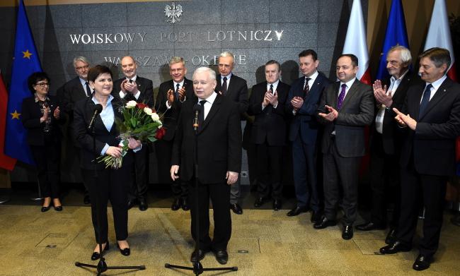 Зустріч Беати Шидло після повернення з Брюсселя. Варшава, 10 лютого 2017